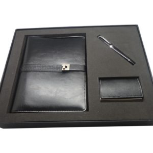Three price set of organizer with pen and business card case