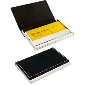 PU Leather and steel business card case