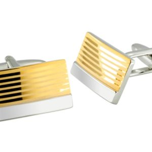 fashion gold striped cufflinks in uae