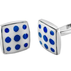 fashion blue dotted cufflinks in uae