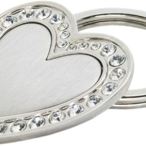 heart shaped keychains with stones in uae