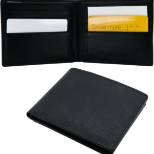 Italian design classic leather wallet with 8 pockets
