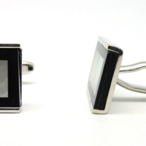 mop black border cufflinks in uae