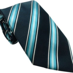 Dark blue with sky blue strip tie in uae