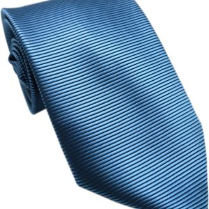 Shinning blue striped tie in uae