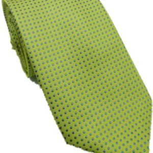 Green with blue dots designed tie in uae