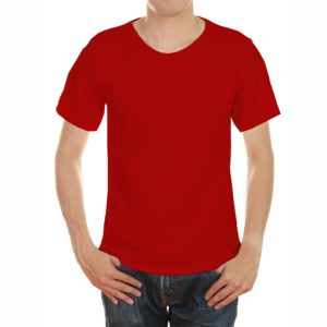 Red color tshirt in uae